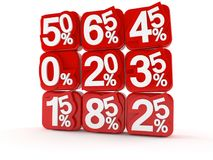 Financial numbers. On white background Royalty Free Stock Images