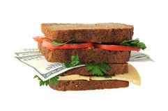 Financial nutrition Royalty Free Stock Photography