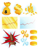 Financial_ objects Royalty Free Stock Image