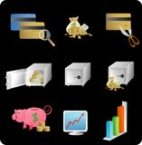 Financial objects/icons. Illustration of objects with a financial/business theme Royalty Free Stock Images