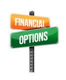 Financial options sign Stock Image