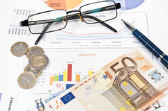 Financial paper Stock Images