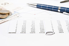 Financial paper Stock Photo