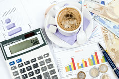 Financial paper Royalty Free Stock Photography