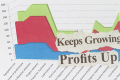 Financial paper charts and graphs Stock Photo