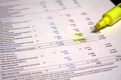 Financial Paperwork Stock Image