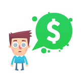 Financial paranoia. Money, money, money. This is file of EPS8 format Royalty Free Stock Photos