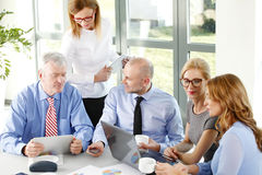 Financial people giving advice Stock Images