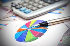 Financial pie chart Stock Images