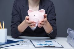 Financial piggy Royalty Free Stock Photography
