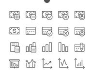 Financial Pixel Perfect Well-crafted Vector Thin Line Icons. 48x48 Ready for 24x24 Grid for Web Graphics and Apps with Editable Stroke. Simple Minimal Pictogram Royalty Free Stock Photo