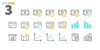 Financial Pixel Perfect Well-crafted Vector Thin Line Icons 48x48 Ready for 24x24 Grid for Web Graphics and Apps with. Editable Stroke. Simple Minimal Pictogram Royalty Free Stock Image