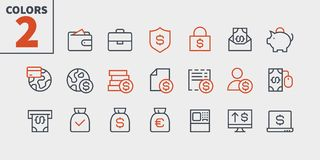 Financial Pixel Perfect Well-crafted Vector Thin Line Icons 48x48 Ready for 24x24 Grid for Web Graphics and Apps with. Editable Stroke. Simple Minimal Pictogram Stock Images