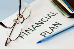 Financial plan Royalty Free Stock Images