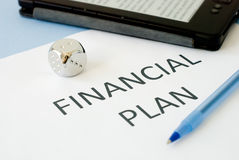 Financial plan Stock Image