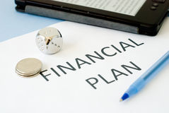 Financial plan Royalty Free Stock Photography
