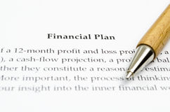 Financial plan Royalty Free Stock Photos