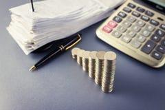 Financial plan Royalty Free Stock Photos