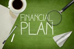 Financial plan concept on blackboard with empty Royalty Free Stock Photo