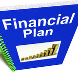 Financial Plan Report Shows Revenue Strategy. Financial Plan Report Shows Revenue Or Earning Strategy Royalty Free Stock Photo