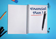 Financial Plan word Royalty Free Stock Photography