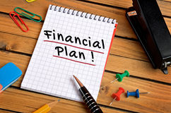 Financial plan word Royalty Free Stock Photos