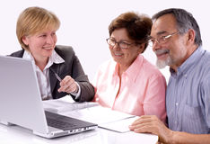 Financial planner stock photography