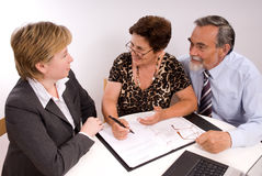 Financial planner stock photos