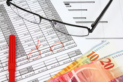 Financial planning Stock Image