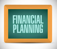 Financial planning board illustration design Royalty Free Stock Images