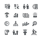 Financial Planning // Business Strategies. Vector icons for your web or printing projects Royalty Free Stock Images