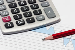 Financial planning with calculator Royalty Free Stock Image