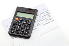 Financial planning with calculator Stock Photos