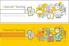 Financial planning concept banner. Financial planning, vector background in flat style Royalty Free Stock Photos