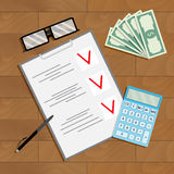 Financial planning and counting Royalty Free Stock Images