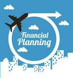 Financial planning. Illustration over blue  background. vector illustration Royalty Free Stock Images