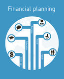 Financial planning. Illustration over blue  background. vector illustration Stock Photo