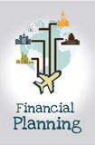 Financial planning. Illustration over gray  background. vector illustration Stock Image