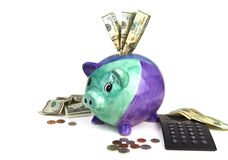 Financial Planning (Piggy Bank) Stock Images