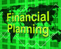 Financial Planning Shows Goal Trading And Aspirations. Financial Planning Representing Accounting Missions And Investment Stock Photo