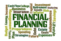 Financial Planning. Word cloud on white background Royalty Free Stock Image