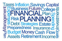 Financial Planning Word Cloud. On White Background Royalty Free Stock Photo