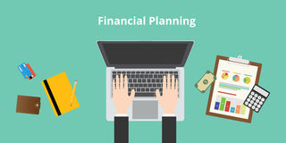Financial planning. And working audit graph and data Royalty Free Stock Photos