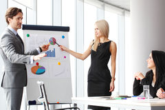 Financial presentation. Business people at financial presentation Stock Images