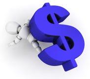 Financial pressure. 3D render depicting financial pressure Stock Image