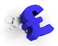 Financial pressure. 3D render depicting financial pressure Royalty Free Stock Photography