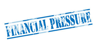 Financial pressure blue stamp. On white background Royalty Free Stock Images