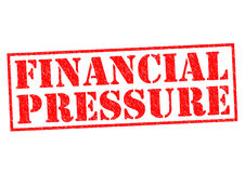 FINANCIAL PRESSURE. Red Rubber Stamp over a white background Stock Image