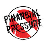 Financial Pressure rubber stamp. Grunge design with dust scratches. Effects can be easily removed for a clean, crisp look. Color is easily changed Stock Photo