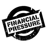 Financial Pressure rubber stamp. Grunge design with dust scratches. Effects can be easily removed for a clean, crisp look. Color is easily changed Royalty Free Stock Image